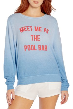 Wild Fox Women Sweatshirts - Women's Meet Me At The Pool Bar Sweatshirt