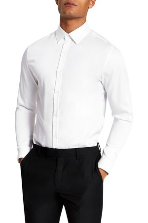 River Island Men Shirts - Men's Slim Fit Cotton Dress Shirt