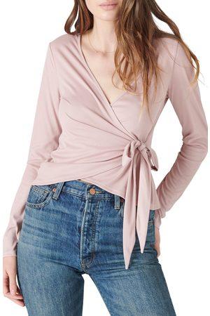 Lucky Brand Women Wrap tops - Women's Sandwash Long Sleeve Wrap Top