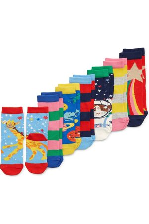 Boden Toddler Girl's Kids' Assorted 7-Pack Sock Box