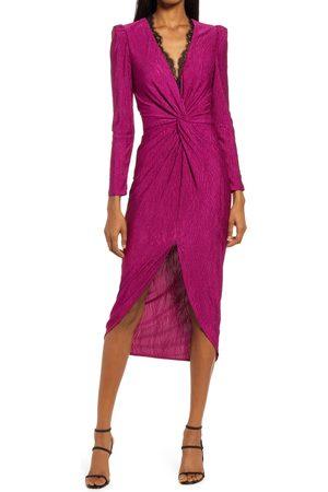 Saylor Women's Kiersey Puff Shoulder Long Sleeve Dress