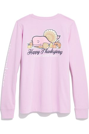 Vineyard Vines Women's Thanksgiving Long Sleeve Cotton Graphic Tee