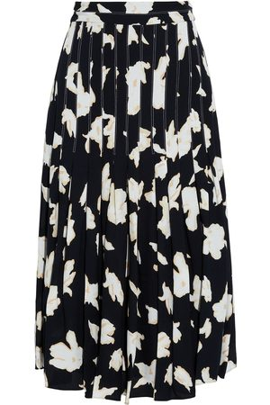 Proenza Schouler Women Printed Skirts - Woman Pleated Printed Crepe Skirt Size 10
