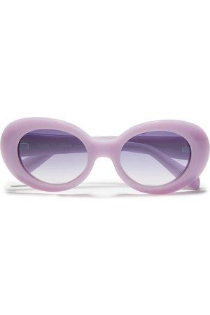 Acne Studios Women Round - Woman Oval-frame Acetate Sunglasses Lavender Size