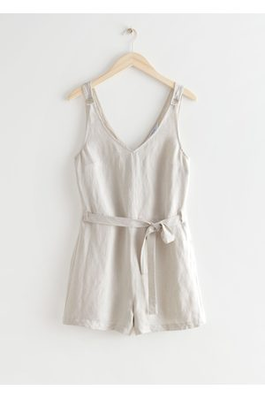 & OTHER STORIES Belted Linen Romper