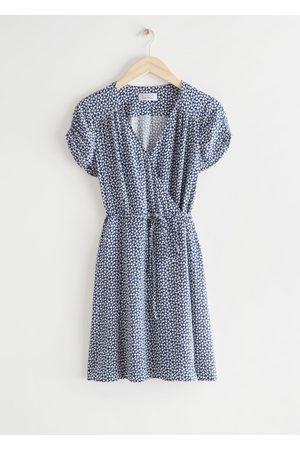 & OTHER STORIES Short Sleeve Mini Wrap Dress