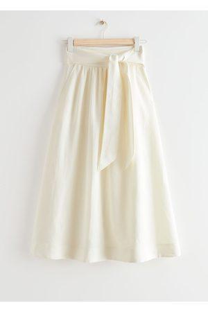 & OTHER STORIES Women Midi Skirts - Belted Midi Wrap Skirt