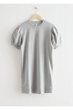 & OTHER STORIES Women Casual Dresses - Relaxed Jersey Mini Dress - Grey