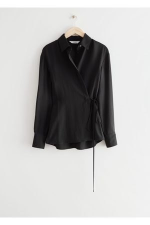 & OTHER STORIES Fitted Asymmetric Wrap Blouse