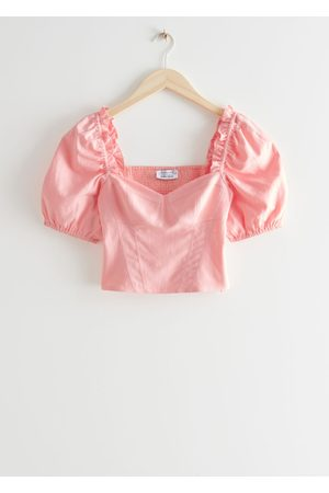 & OTHER STORIES Smocked Puff Sleeve Top