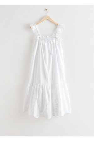 & OTHER STORIES Women Midi Dresses - Frilled Embroidery Midi Dress