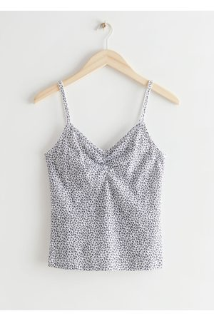 & OTHER STORIES Strappy Printed Top