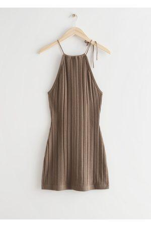 & OTHER STORIES Women Party Dresses - Textured Halter Mini Dress