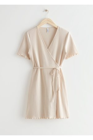 & OTHER STORIES Ribbed Wrap Mini Dress