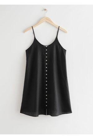 & OTHER STORIES Buttoned Linen Mini Dress