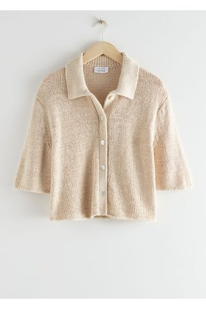 & OTHER STORIES Women Cardigans - Boxy Collared Knit Cardigan