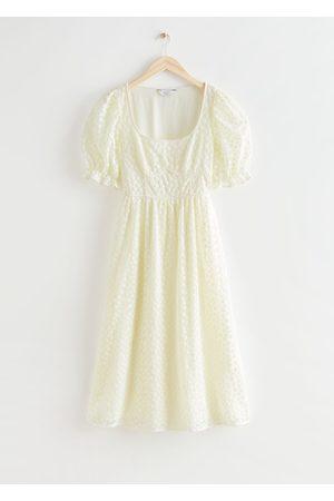 & OTHER STORIES Women Midi Dresses - Square Neck Lace Midi Dress