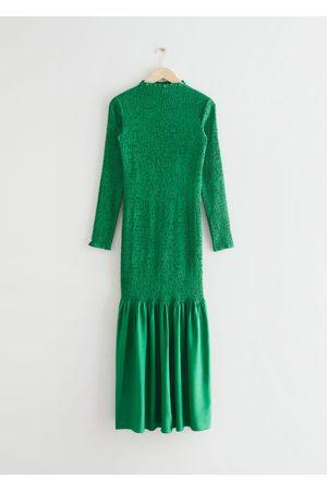 & OTHER STORIES Smocked Midi Dress