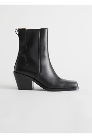 & OTHER STORIES Women Cowboy Boots - Square Toe Leather Boots