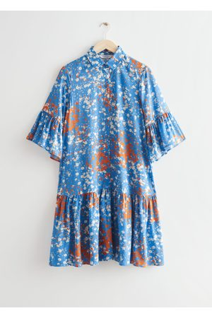 & OTHER STORIES Buttoned Ruffle Midi Dress