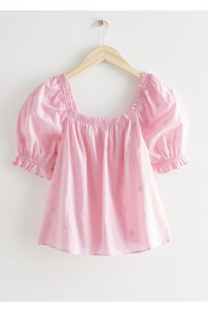 & OTHER STORIES Puff Sleeve Ruffle Top