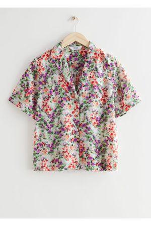 & OTHER STORIES Women Short sleeves - Short Sleeve Floral Print Shirt
