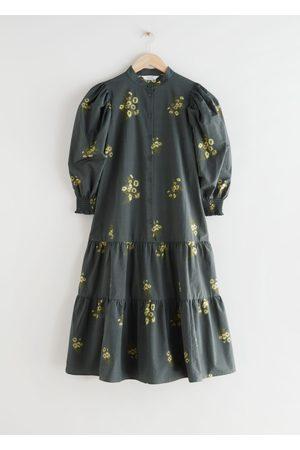 & OTHER STORIES Women Midi Dresses - Wide Tiered Puff Sleeve Midi Dress