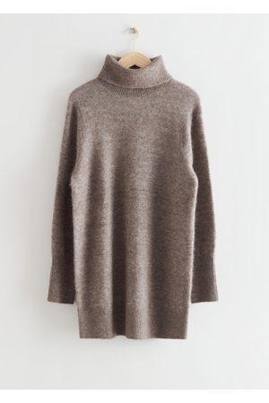 & OTHER STORIES Women Party Dresses - Turtleneck Mini Knit Dress