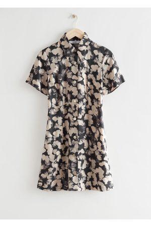 & OTHER STORIES Women Casual Dresses - Mini Shirt Dress - Grey