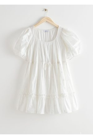 & OTHER STORIES Tiered Puff Sleeve Mini Dress