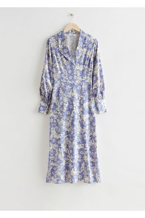 & OTHER STORIES Women Printed Dresses - Printed Collared Midi Dress