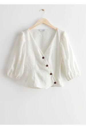 & OTHER STORIES Women Blouses - Asymmetric Silk Blend Blouse