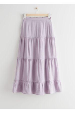 & OTHER STORIES Women Midi Skirts - Tiered Midi Skirt