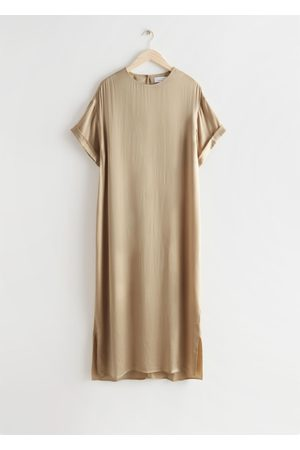 & OTHER STORIES Women Maxi Dresses - Cupro Maxi Dress