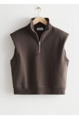 & OTHER STORIES Half-Zip Jersey Vest