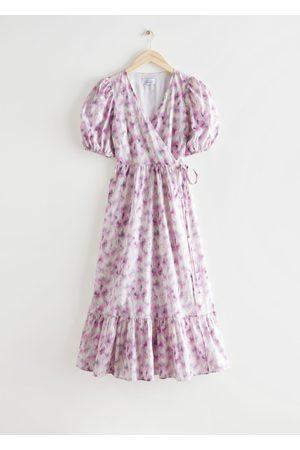 & OTHER STORIES Women Midi Dresses - Puff Sleeve Midi Wrap Dress