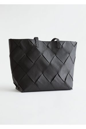 & OTHER STORIES Women Purses - Braided Leather Tote Bag