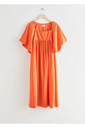 & OTHER STORIES Women Midi Dresses - Flutter Sleeve Midi Dress