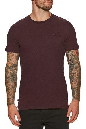 Superdry Vintage Logo Emb s Short Sleeve T-Shirt - Deepest Burgundy Grit