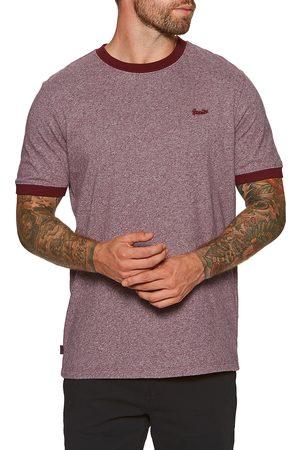 Superdry Men Short Sleeve - Vintage Ringer s Short Sleeve T-Shirt - Beach Burgundy Grit