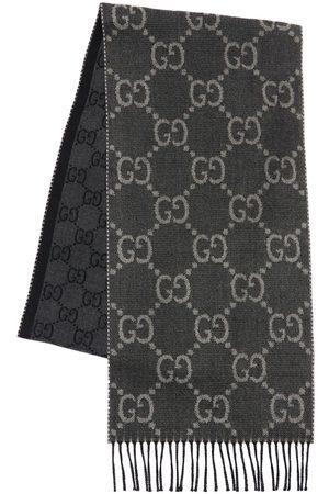 Gucci Gg Jacquard Wool Knit Scarf