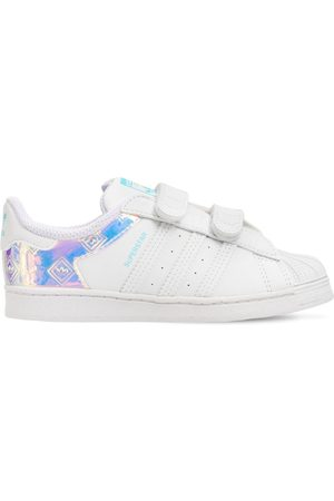 adidas Girls Sneakers - Superstar Leather Strap Sneakers