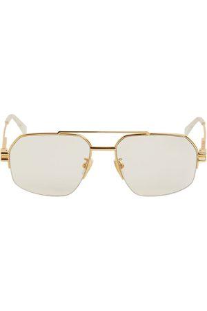 Bottega Veneta Women Sunglasses - Pilot Metal Sunglasses