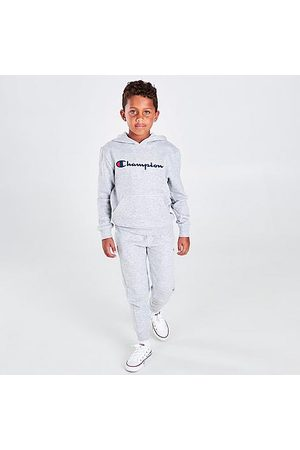Champion Boys' Infant Classic Script Hoodie and Joggers Set in Grey/ Size 4 Cotton/Fleece