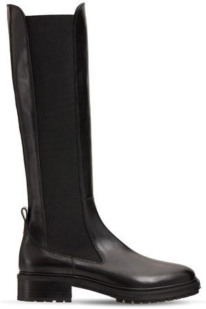 Aeyde 40mm Blanca Tall Leather Boots