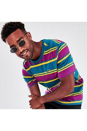 Nike Men's Sportswear Stripe T-Shirt in Green/Purple/Bright Spruce Size Small 100% Cotton