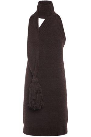 Bottega Veneta Women Party Dresses - Wool Mini Dress W/ Scarf