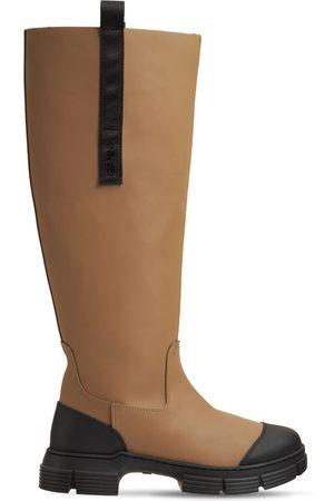 Ganni 45mm Rubber Tall Boots