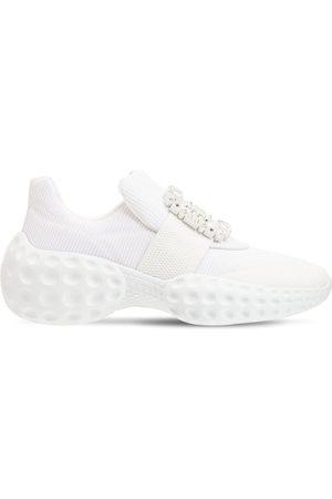 Roger Vivier Women Flat Shoes - 75mm Viv Run Moonlight Slip-on Sneakers