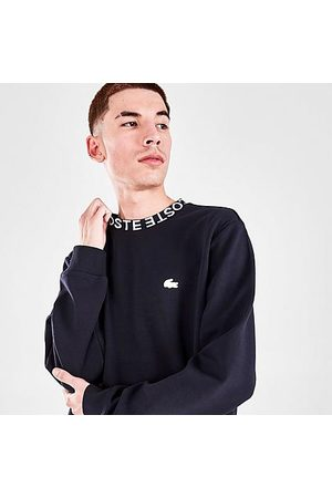 Lacoste Men's Lettered Crew Neck Pullover Sweatshirt in /Navy Size Small Cotton/Polyester/Fleece
